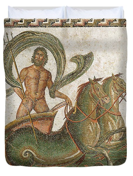 Triumph Of Neptune Duvet Cover by Roman School
