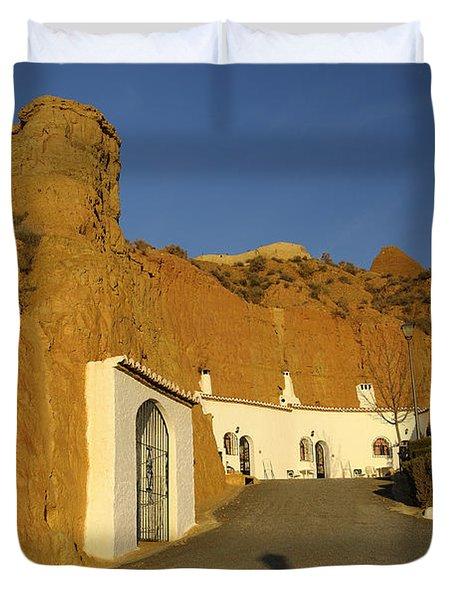 Troglodyte Caves Duvet Cover by Guido Montanes Castillo