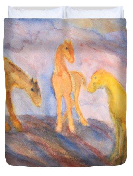 Remembering Us Duvet Cover by Hilde Widerberg