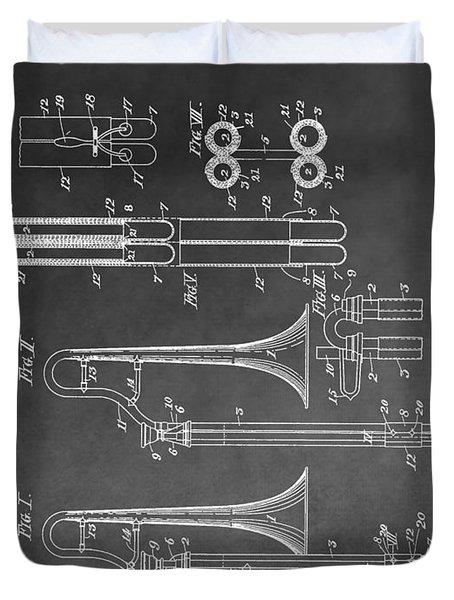 Trombone Design Duvet Cover by Dan Sproul