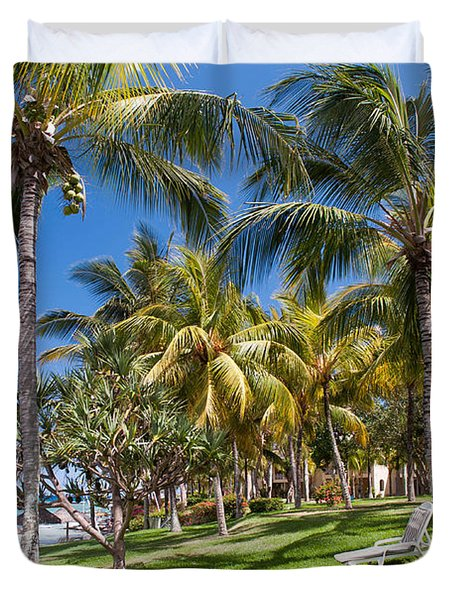 Tropical Beach I. Mauritius Duvet Cover by Jenny Rainbow