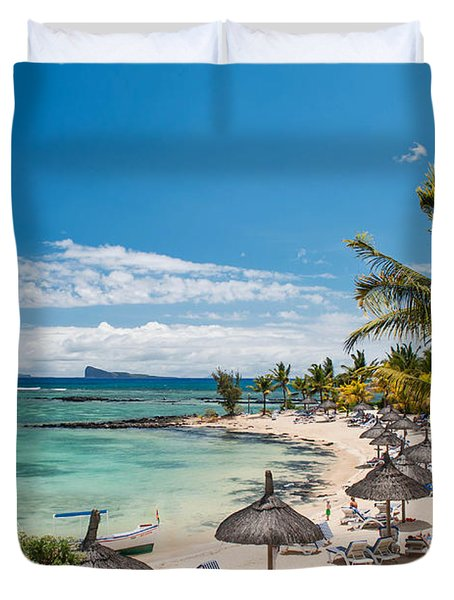 Tropical Beach II. Mauritius Duvet Cover by Jenny Rainbow