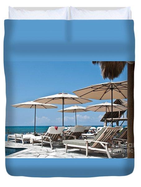 Tropical Beach Luxury Paradise Duvet Cover by Valerie Garner