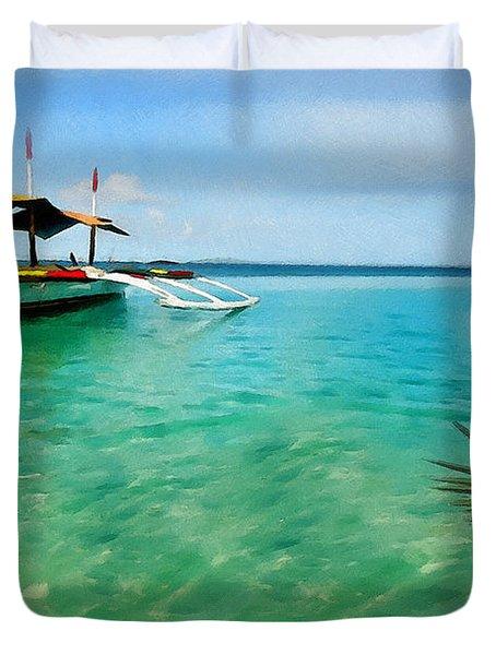 Tropical Getaway Duvet Cover by Lourry Legarde