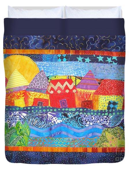 Tropical Harmony Duvet Cover by Susan Rienzo