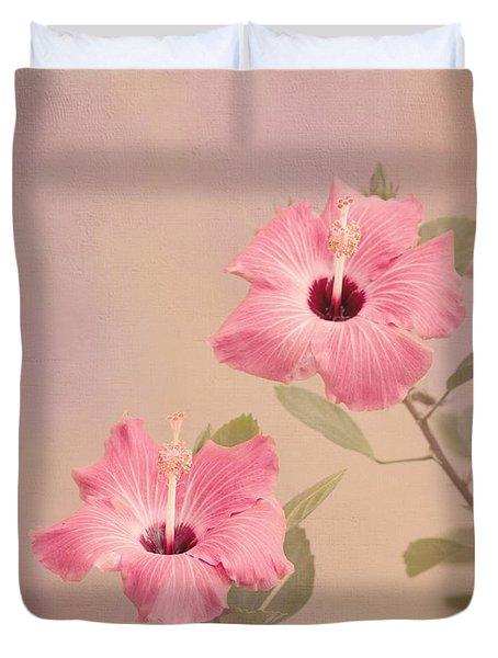 Tropical Hibiscus Duvet Cover by Kim Hojnacki