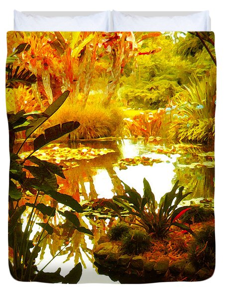Tropical Paradise Duvet Cover by Amy Vangsgard