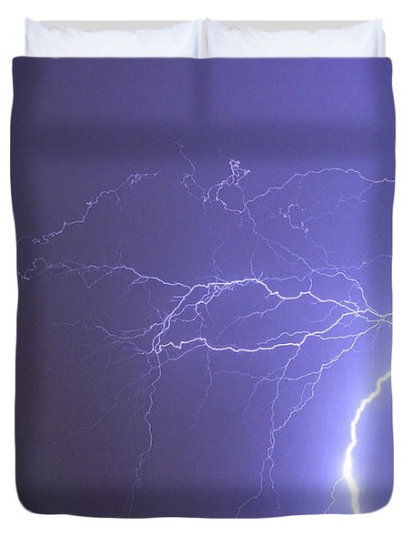Tropical Thunderstorm Night  Duvet Cover by James BO  Insogna