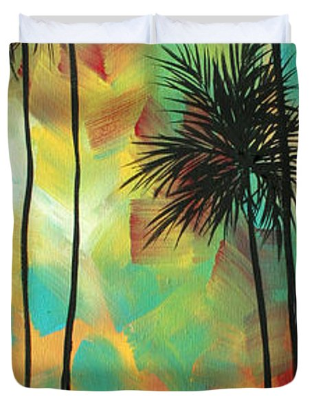 Tropics By Madart Duvet Cover by Megan Duncanson