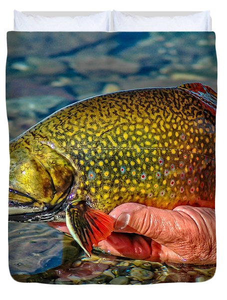 Trout Duvet Cover by Edward Fielding