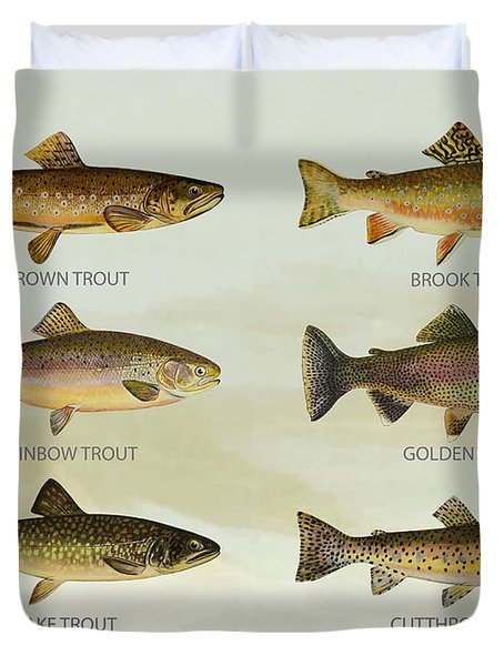Trout Species Duvet Cover by Aged Pixel