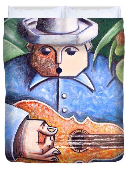 Trovador De Mango Bajito Duvet Cover by Oscar Ortiz