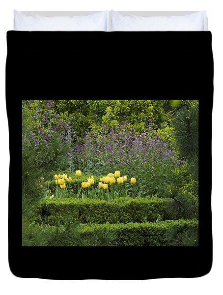 Tulip Garden Duvet Cover by Frank Tschakert