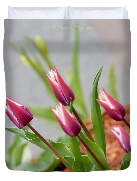 Tulip Time Duvet Cover by Sonali Gangane