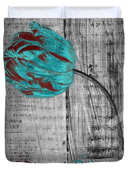 Tulip - Vivre Et Aimer S12ab4t Duvet Cover by Variance Collections