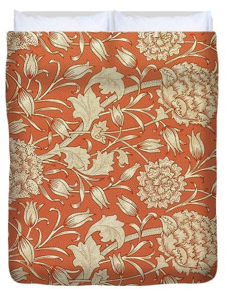 Tulip wallpaper design Duvet Cover by William Morris