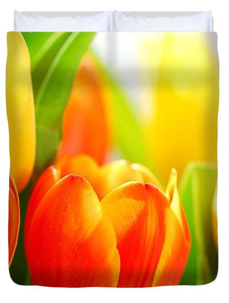 Tulips Duvet Cover by Elena Elisseeva