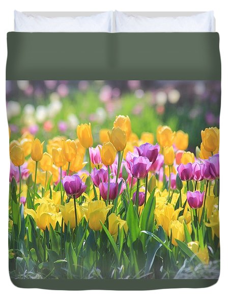 Tulips Duvet Cover by Elizabeth Budd