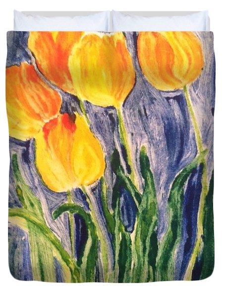 Tulips Duvet Cover by Sherry Harradence