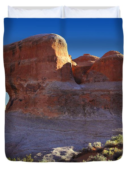 Tunnel Arch - Arches National Park Duvet Cover by Mike McGlothlen