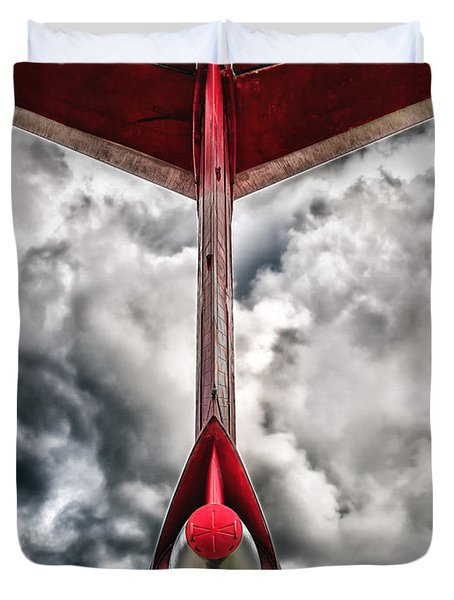 Tupolev Tu-154  Duvet Cover by Stylianos Kleanthous