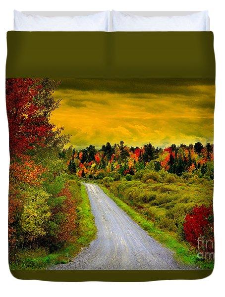 Turn Left Heaven Duvet Cover by Andrew Lorimer