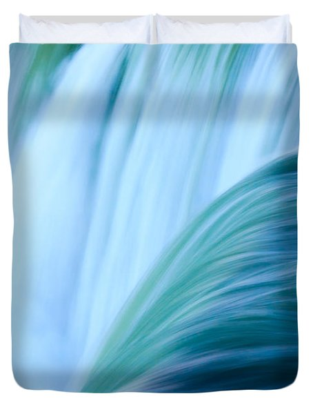 Turquoise Blue Waterfall Duvet Cover by Peta Thames