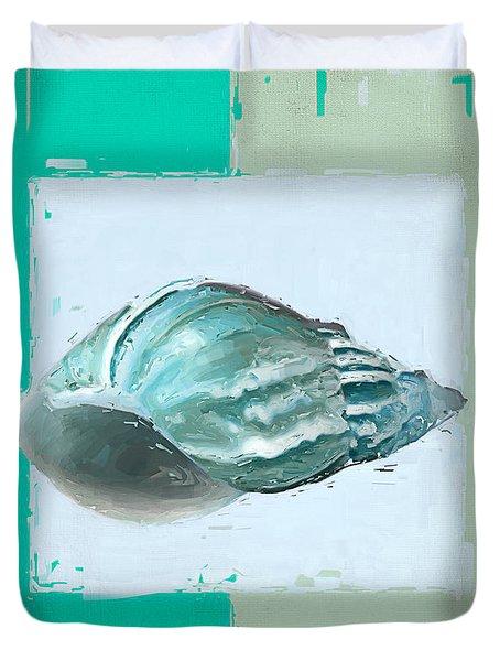 Turquoise Seashells XIV Duvet Cover by Lourry Legarde