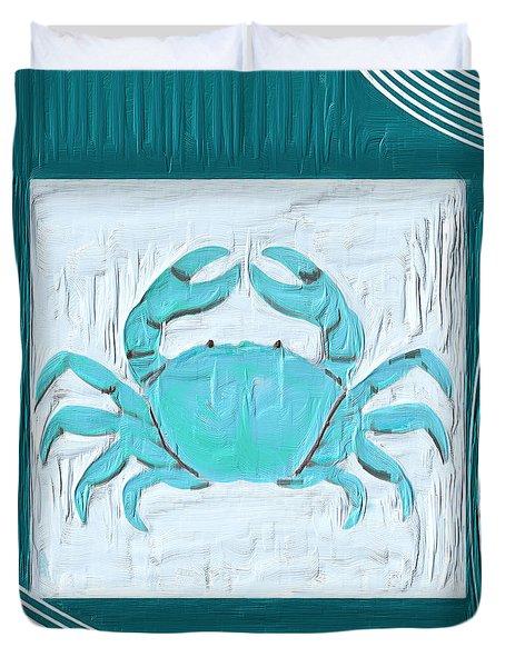 Turquoise Seashells XIX Duvet Cover by Lourry Legarde