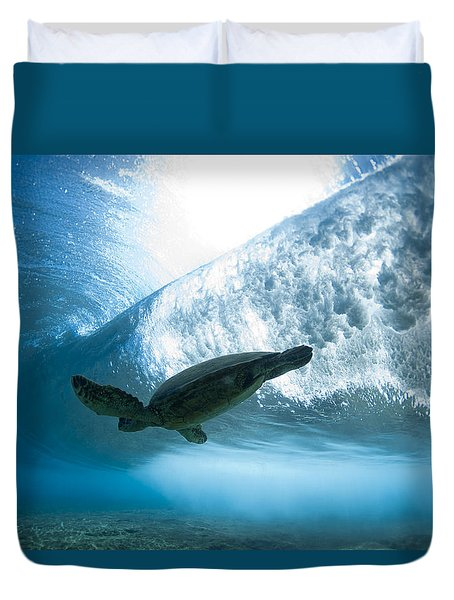 Turtle Clouds Duvet Cover by Sean Davey