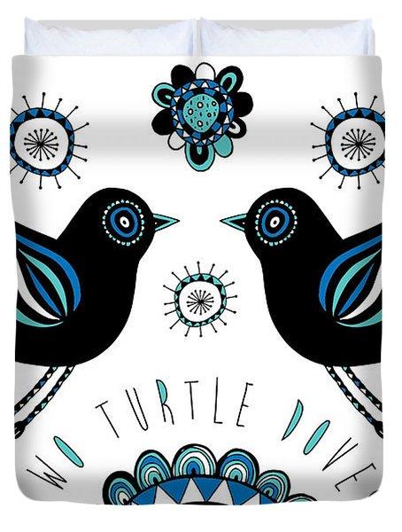Turtle Dove Duvet Cover by Susan Claire