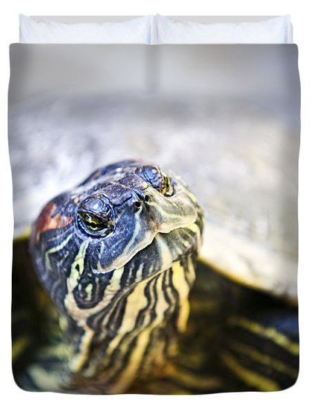 Turtle Duvet Cover by Elena Elisseeva