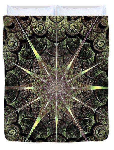 Turtle Gates Duvet Cover by Anastasiya Malakhova
