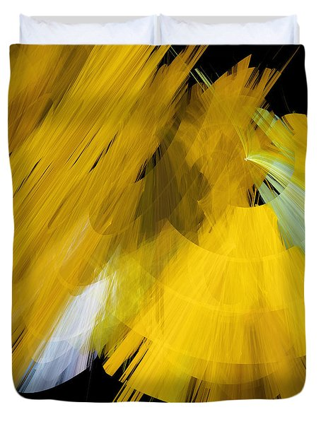 TuTu Stage Left Abstract Yellow Duvet Cover by Andee Design