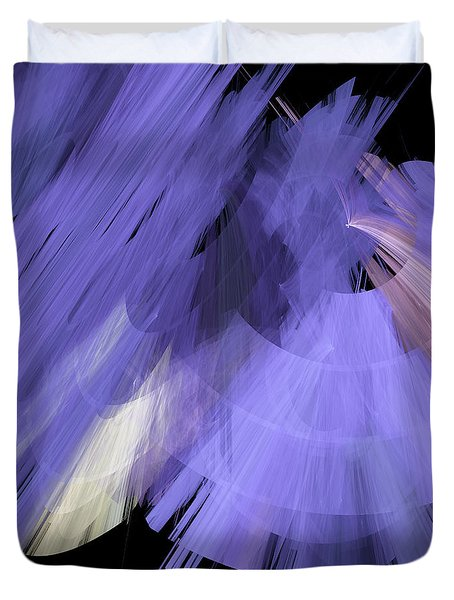 Tutu Stage Left Periwinkle Abstract Duvet Cover by Andee Design