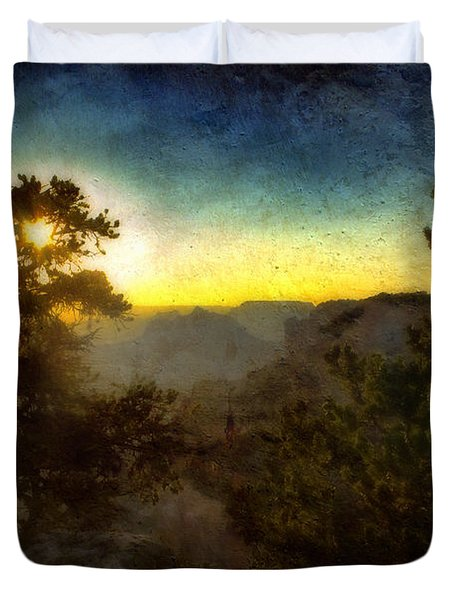 Twilight At The Canyon Duvet Cover by Ellen Heaverlo
