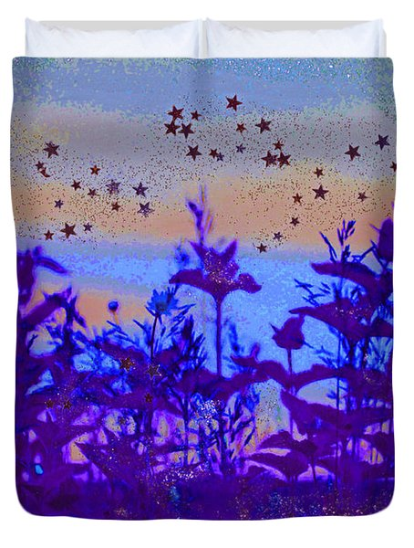 Twilight Meadow Magic Duvet Cover by First Star Art