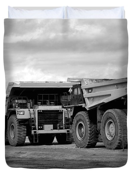 Twin Caterpillar Trucks Duvet Cover by Alanna DPhoto