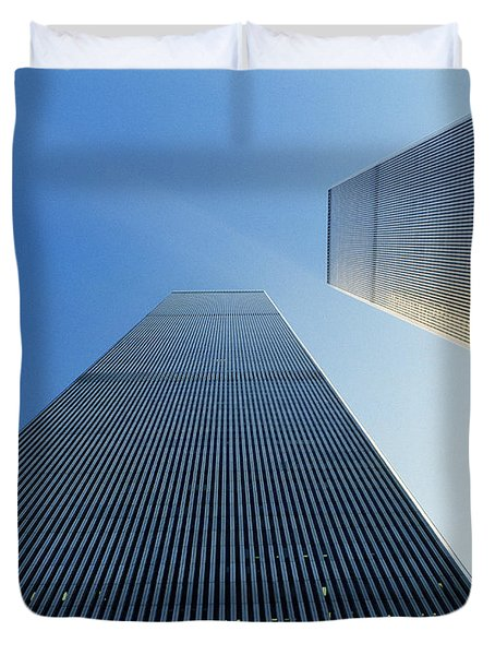 Twin Towers Duvet Cover by Jon Neidert
