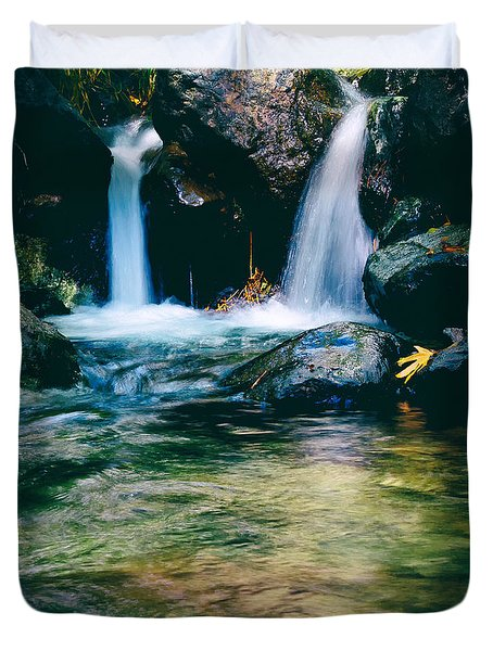 Twin Waterfall Duvet Cover by Stylianos Kleanthous