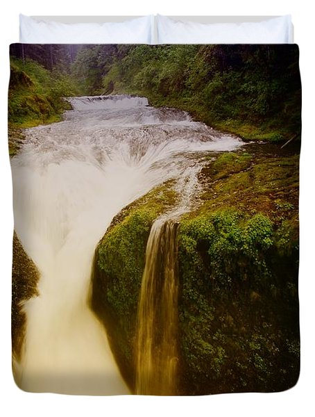 Twister Falls Duvet Cover by Jeff Swan