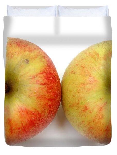 Two Apple Halves Duvet Cover by Michal Bednarek