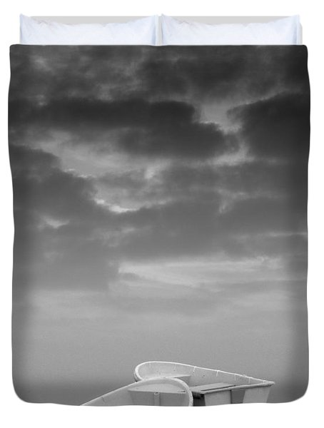 Two Boats And Clouds Duvet Cover by David Gordon