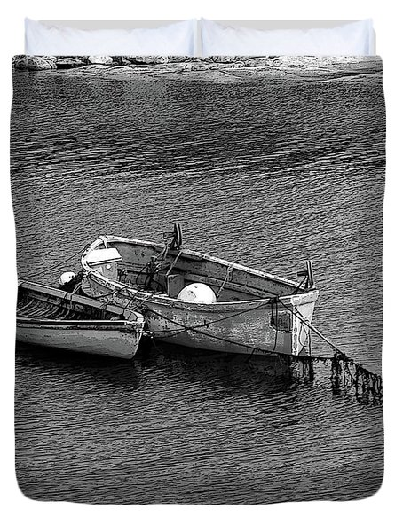 Two Old Rowboats Duvet Cover by Kathleen Struckle