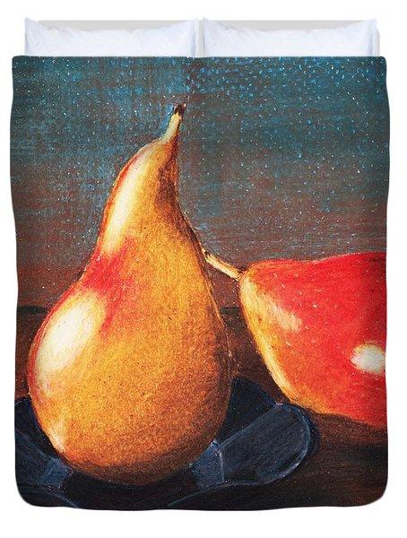 Two Pears Duvet Cover by Anastasiya Malakhova