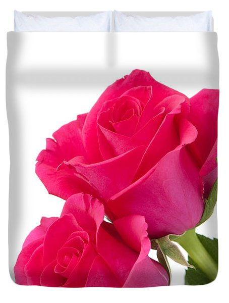 Two Roses Duvet Cover by Anne Gilbert