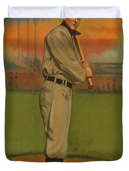Ty Cobb Circa 1911 Duvet Cover by George Pedro