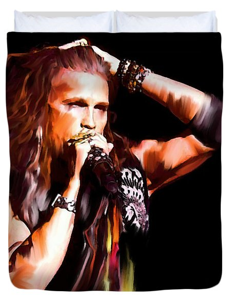 Steven Tyler  Tyler II Duvet Cover by Iconic Images Art Gallery David Pucciarelli