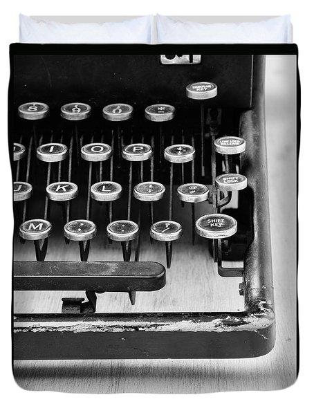 Typewriter Triptych Part 3 Duvet Cover by Edward Fielding