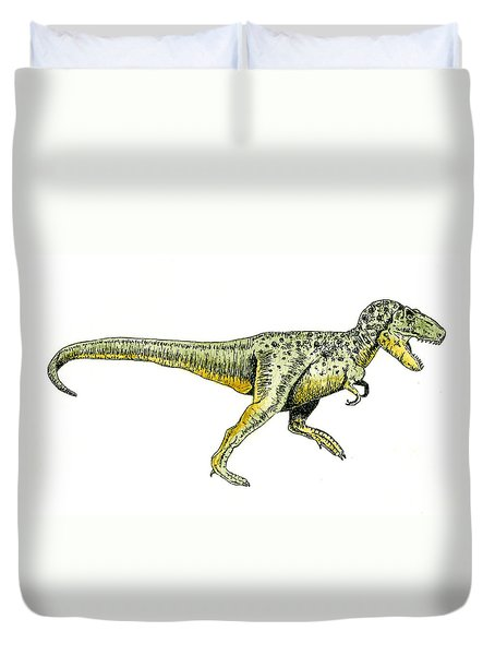 Tyrannosaurus Rex Duvet Cover by Michael Vigliotti
